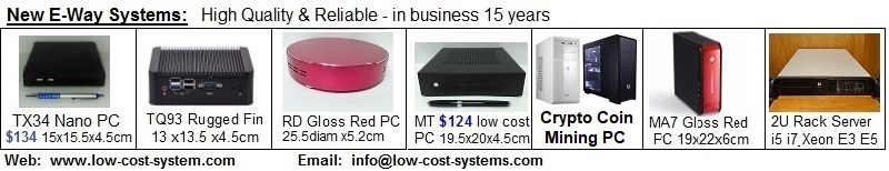 Low cost PC, low cost system, low cost embedded PC, low cost server, low cost rack server, low cost cpu.